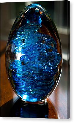 Solid Glass Sculpture E7 Canvas Print by David Patterson