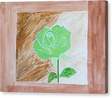 Canvas Print featuring the painting Solitary Rose by Sonali Gangane