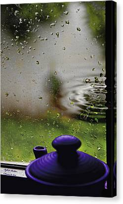Canvas Print featuring the photograph Solitude By The Window by Itzhak Richter