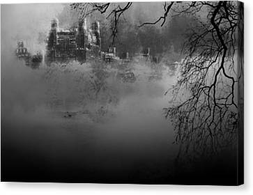 Solitude In Central Park Canvas Print by Jeff Burgess