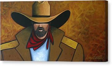 Solo Cowboy Canvas Print by Lance Headlee
