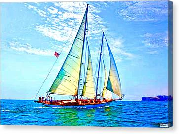 Solo Sailing Canvas Print by Paula Greenlee