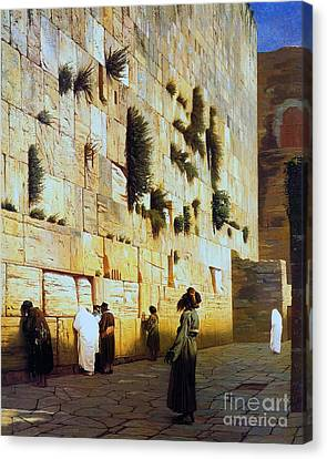 Solomon's Wall  Jerusalem Canvas Print by Pg Reproductions