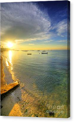 Island Stays Canvas Print - Some Days Stay Gold Forever by Yhun Suarez