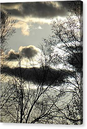 Some Rather Serious Looking Clouds Canvas Print by Brenda Conrad