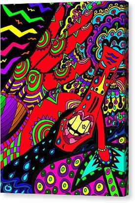 Somebody Pinch Me Canvas Print by Karen Elzinga