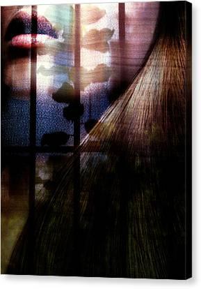 Someone Behind Canvas Print by Claudia Boeckelmann