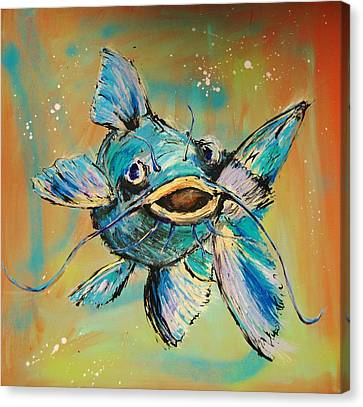 Something In The Water Canvas Print by Dan MacCosbe