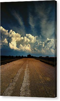 Something Wicked Ahead Canvas Print by Bill Tiepelman