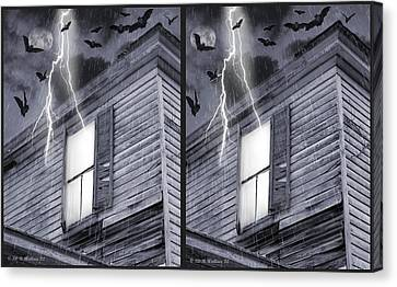 Something Wicked - Cross Your Eyes And Focus On The Middle Image Canvas Print by Brian Wallace
