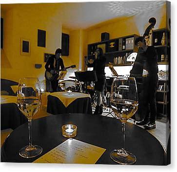 Canvas Print featuring the photograph Somewhere In A Small Cafe by Blake Yeager