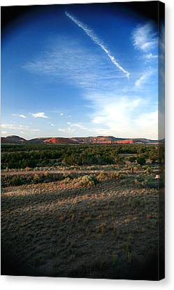 Canvas Print featuring the photograph Somewhere Off The Interstate In New Mexico by Lon Casler Bixby
