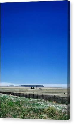 Canvas Print featuring the photograph Somewhere On Hwy 285 Number One by Lon Casler Bixby