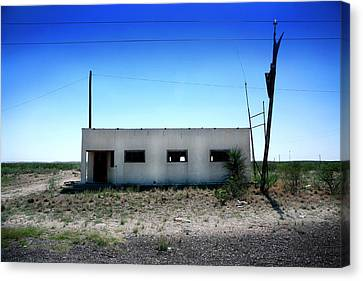 Canvas Print featuring the photograph Somewhere On The Old Pecos Highway Number 1 by Lon Casler Bixby
