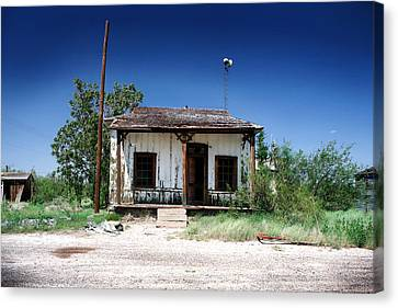 Canvas Print featuring the photograph Somewhere On The Old Pecos Highway Number 3 by Lon Casler Bixby