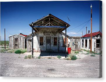 Canvas Print featuring the photograph Somewhere On The Old Pecos Highway Number 4 by Lon Casler Bixby