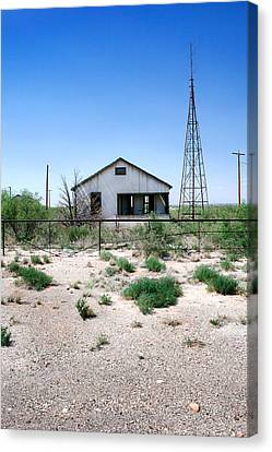Canvas Print featuring the photograph Somewhere On The Old Pecos Highway Number 5 by Lon Casler Bixby
