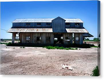 Canvas Print featuring the photograph Somewhere On The Old Pecos Highway Number 6 by Lon Casler Bixby