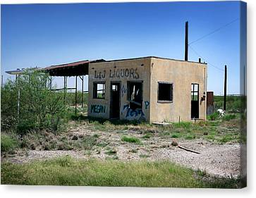 Canvas Print featuring the photograph Somewhere On The Old Pecos Highway Number 7 by Lon Casler Bixby