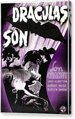 Horror Fantasy Movies Canvas Print - Son Of Dracula, Aka Draculas Son by Everett