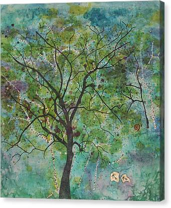 Song Of The Trees Canvas Print by White Space