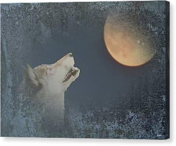 Song To The Moon Canvas Print by Debra     Vatalaro