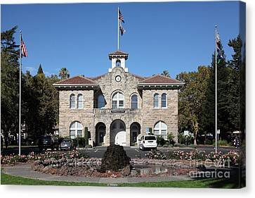 Sonoma City Hall - Downtown Sonoma California - 5d19260 Canvas Print by Wingsdomain Art and Photography