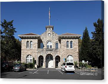 Sonoma City Hall - Downtown Sonoma California - 5d19265 Canvas Print by Wingsdomain Art and Photography