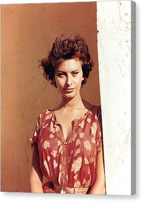 1950s Portraits Canvas Print - Sophia Loren, Legend Of The Lost, 1957 by Everett