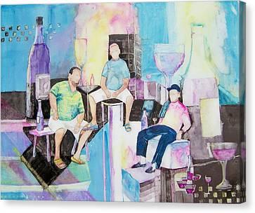 Sorrento Dock Canvas Print by Regina Ammerman