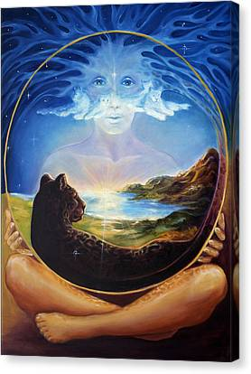 Divine Breath Canvas Print - Soul Of Creation by Ann Beeching