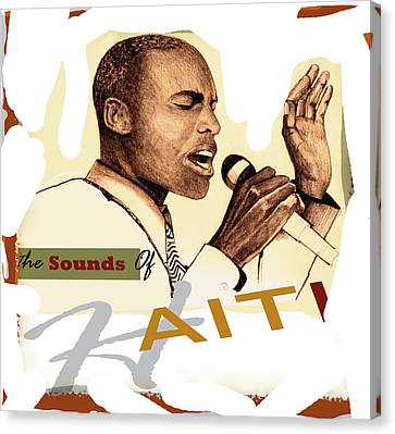 Sounds Of Haiti Canvas Print by Bob Salo