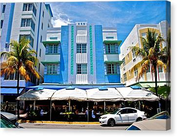 South Beach The Blue Section Canvas Print by Eric Tressler