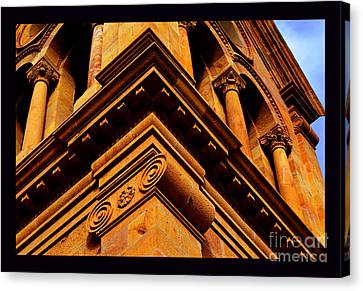South Corner Of St. Francis Cathedral Canvas Print by Susanne Still