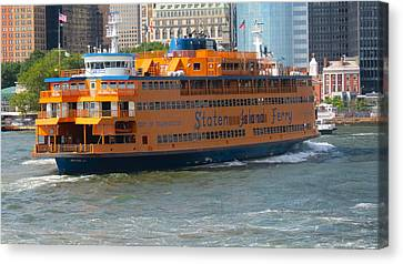 South Ferry Water Ride1 Canvas Print by Terry Wallace
