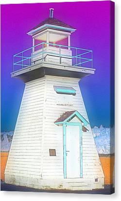 South Hamton Lighthouse 3 Canvas Print by Cyryn Fyrcyd
