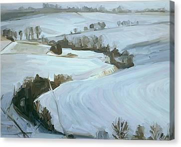 South Limburg Covered With Snow Canvas Print