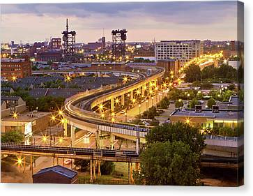 South Loop Long Exposure Canvas Print by Delobbo.com
