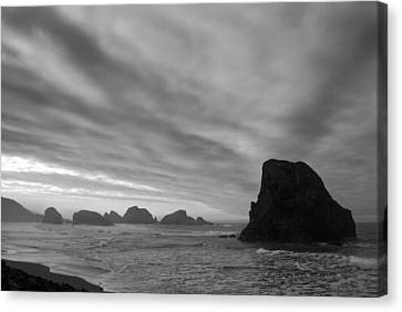 South Oregon Coast Black And White Canvas Print