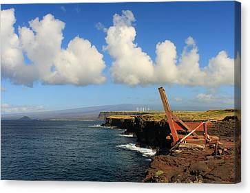 Canvas Print featuring the photograph South Point Hawaii Boat Hoist by Scott Rackers