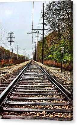 Canvas Print featuring the photograph South Shore Line by Joe Urbz