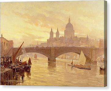 Southwark Bridge Canvas Print by Herbert Menzies Marshall