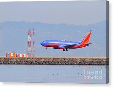 Southwest Airlines Jet Airplane At San Francisco International Airport Sfo . 7d12089 Canvas Print by Wingsdomain Art and Photography