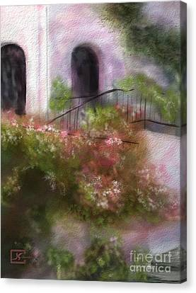 Southwest Floral Landscape Canvas Print by Judy Filarecki