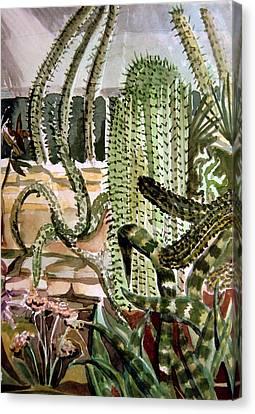 Southwest Garden Canvas Print by Mindy Newman