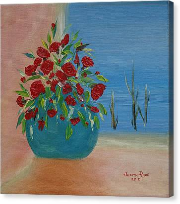Canvas Print featuring the painting Southwestern 1 by Judith Rhue