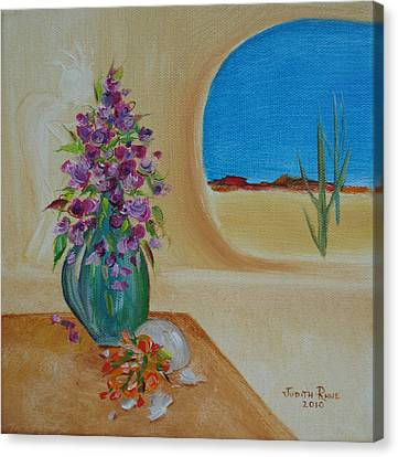 Canvas Print featuring the painting Southwestern 3 by Judith Rhue