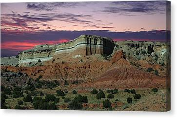 Canvas Print featuring the photograph Southwestern Sunset by Renee Hardison