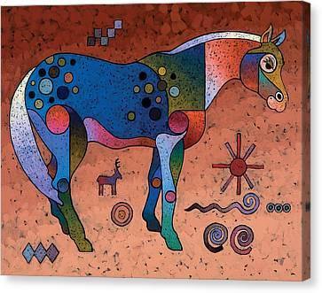 Southwestern Symbols Canvas Print by Bob Coonts
