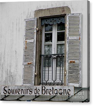 Canvas Print featuring the photograph Souvenirs De Bretagne by Lainie Wrightson